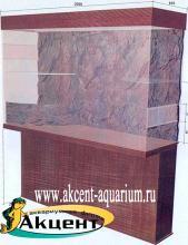Акцент-аквариум, террариум встроенный в стену размером 2 метра